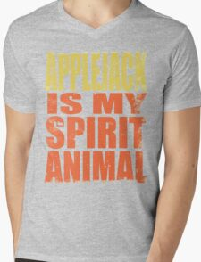 AppleJack is my Spirit Animal Mens V-Neck T-Shirt