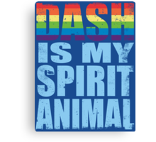 RainbowDash is my Spirit Animal Canvas Print