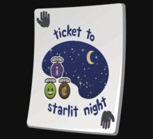 Glitch miscellaneousness paradise ticket starlit night by wetdryvac