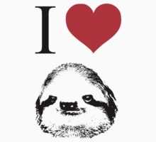 I Love Sloths (Posters, Iphone/ipod/ipad cases, Tshirts, Hoodies, Stickers) Kids Clothes