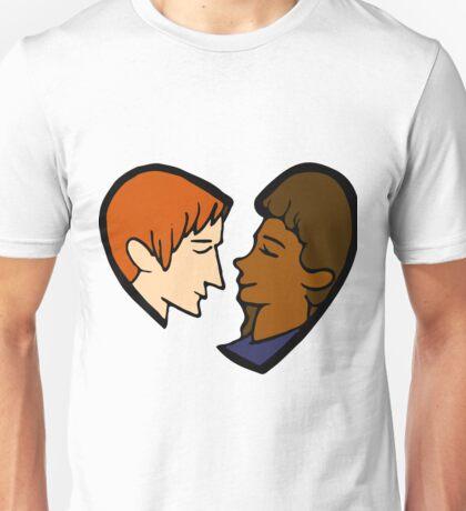 Heart-shaped couple Unisex T-Shirt
