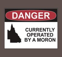 DANGER: CURRENTLY OPERATED BY A MORON by Rob Price