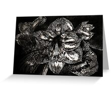Iron Butterfly - Silver Greeting Card