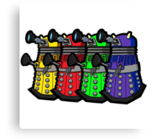 Beware the Daleks! Canvas Print