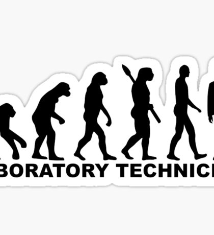 Evolution laboratory technician Sticker