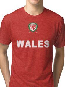Welsh Cymru Football Game Design Tri-blend T-Shirt