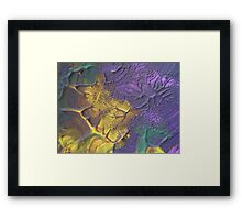 """""""Deeply Rooted"""" original abstract artwork by Laura Tozer Framed Print"""