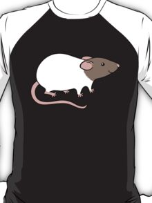 Friendly Hooded Rat - Grey and White T-Shirt