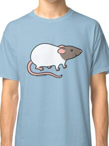 Friendly Hooded Rat - Grey and White Classic T-Shirt