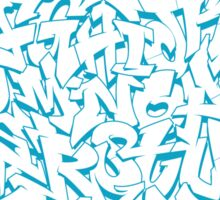 Graffiti Alphabet Sticker