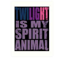Twilight Sparkle is my Spirit Animal Art Print