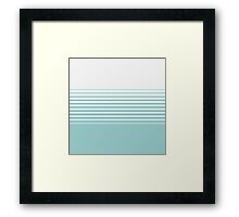 Turquoise and White Stripes Print Framed Print