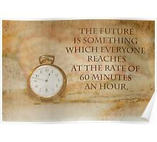 Pocket Watch Time Quote  Poster
