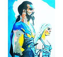 Game of Thrones- Drogo and Khaleesi by drknice