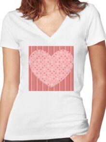 Heart 4 Women's Fitted V-Neck T-Shirt