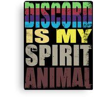 Discord is my Spirit Animal Canvas Print