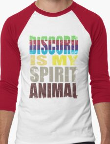 Discord is my Spirit Animal Men's Baseball ¾ T-Shirt