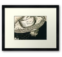 White Hat Framed Print
