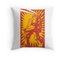 Red Robot Throw Pillow