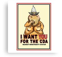 Roz Wants YOU for the CDA Canvas Print