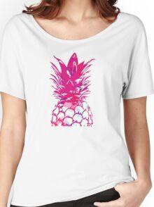 Beautiful Pineapple Flowers Pattern Women's Relaxed Fit T-Shirt