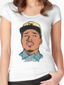 chance the rapper Women's Fitted Scoop T-Shirt