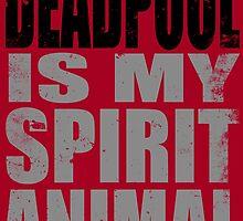 Deadpool is my Spirit Animal (BLACK) by Penelope Barbalios