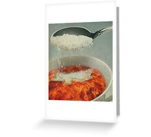 A CUP OF FLAMES WITH A DASH OF SUGAR Greeting Card