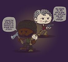 Carol, Tyreese, and Judith by DoodleHeadDee