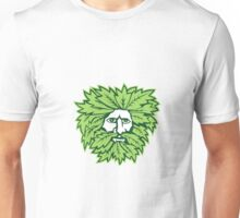 Green Man Front Isolated Unisex T-Shirt