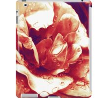 Red rose at the morning with water drops iPad Case/Skin
