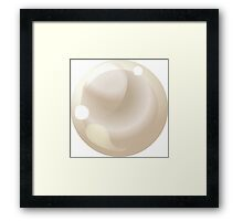 Glitch miscellaneousness prairie oyster pearl Framed Print