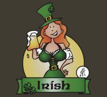 St. Patrick's Day Irish Maiden by cardvibes