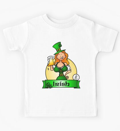 St. Patrick's Day Irish Maiden Kids Tee