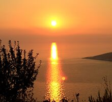 Orange Sunset - Nature Photography by JuliaRokicka