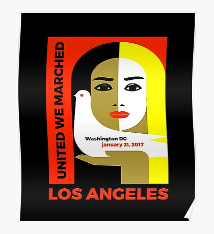 Women's March On Los Angeles 2017 Collectible  Poster