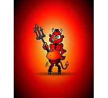 Fat red devil Photographic Print