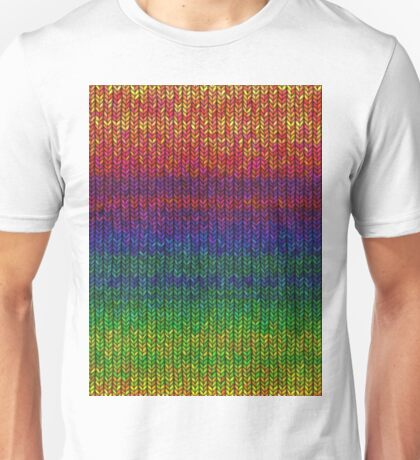 Rainbow Knit Photo Unisex T-Shirt