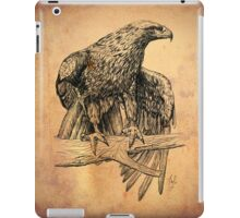Falcon on branch digital illustration iPad Case/Skin