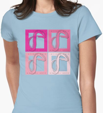 Infinite Path Martial Arts Logo - Pink Womens Fitted T-Shirt
