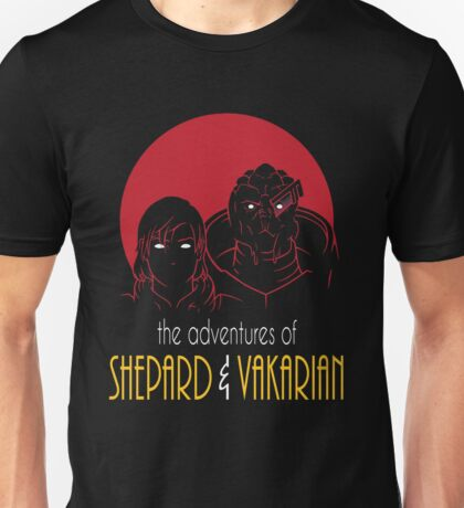 Adventures of FemShep and Vakarian Unisex T-Shirt