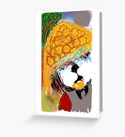 PANDA RAIDEN  Greeting Card