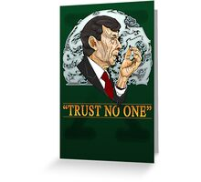The Cigarette Smoking Man Greeting Card