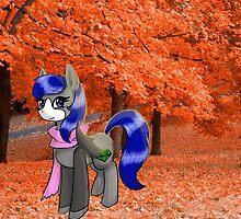 Autumn stroll by RyuokoWolf