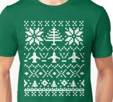Ugly Christmas Sweater - Airplane / Pilot  Unisex T-Shirt