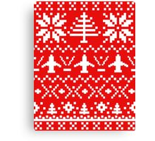 Ugly Christmas Sweater - Airplane / Pilot  Canvas Print