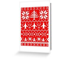 Ugly Christmas Sweater - Airplane / Pilot  Greeting Card