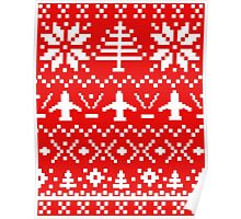 Ugly Christmas Sweater - Airplane / Pilot  Poster