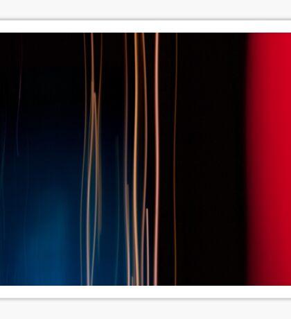 Red & Blue Streams Sticker