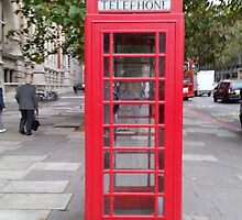 Red Telephone Booth by JupiterHadley